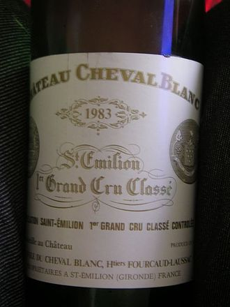 Classification of Saint-Émilion wine - Cheval Blanc, a Premier grand cru classé A wine.