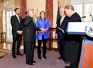 John J. Sullivan (diplomat) - Sullivan being sworn in as Deputy Secretary of State by Chief Justice John Roberts.
