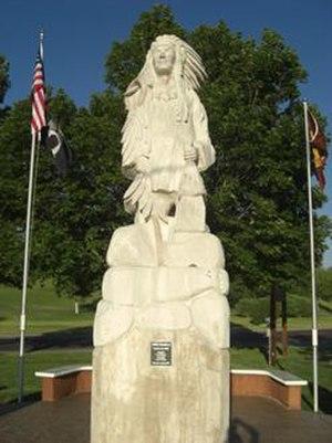 Pocatello (Shoshone leader) - Statue of Chief Pocatello, sculpted by J.D. Adcox