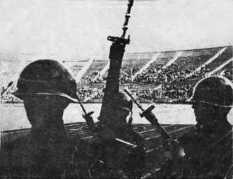 Military dictatorship of Chile (1973–1990) - Estadio Nacional de Chile as a concentration camp after the coup.
