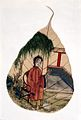 Chinese painting on a tree leaf. Wellcome L0022489.jpg