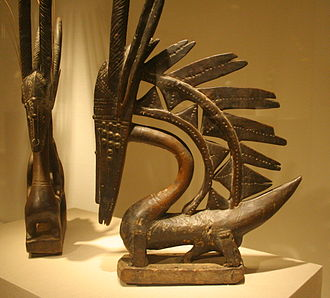 African sculpture - Two Chiwara c. late 19th early 20th centuries, Art Institute of Chicago. Female (left) and male Vertical styles