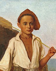Portrait of a young fisher boy from Capri