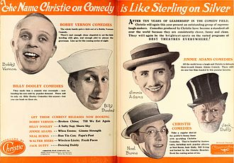 Jack Duffy (actor) - Advertisement with Duffy at far right