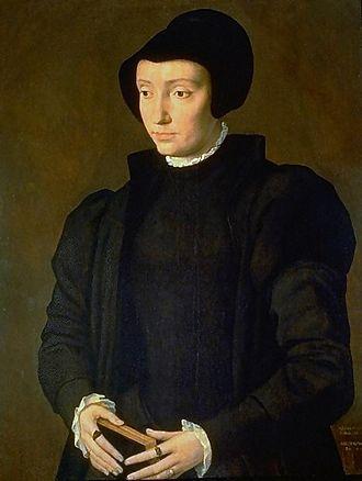 Dorothea of Denmark, Electress Palatine - Portrait by Michiel Coxcie, 1545
