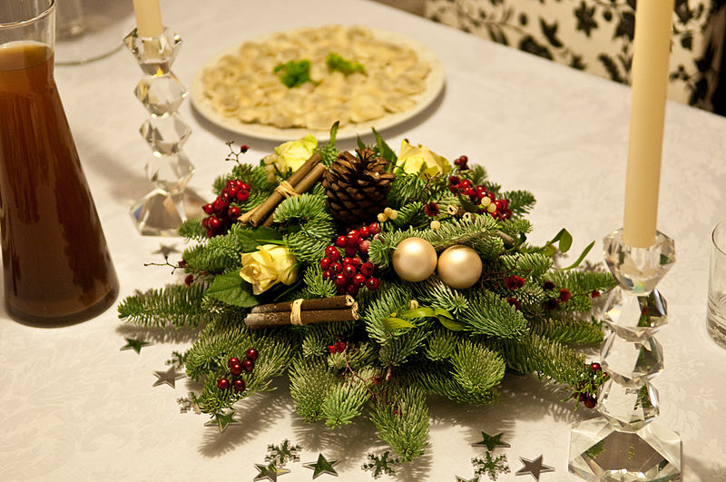 Decoration Table Noel Or Blanc