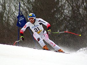 Super-G - Austrian alpine skier competing in super-G