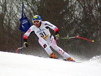 Super-G - Austrian alpine skier competing in super-G