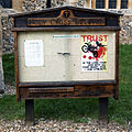 Church of the Holy Cross Felsted Essex England - church exterior notice sign board.jpg