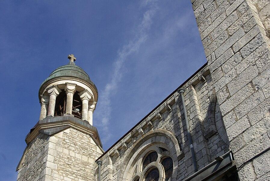Part of the church Saint-Martin of Castelnau-Montratier (Lot, France).
