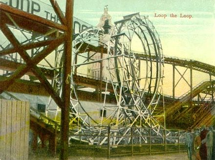 Loop the loop roller coaster