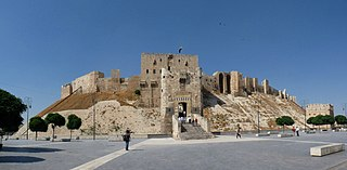 Citadel of Aleppo Castle in Syria