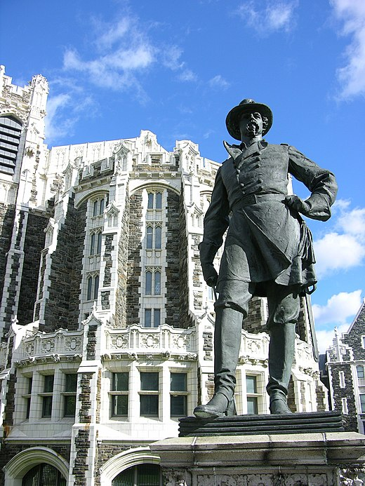 Statue of Alexander S. Webb at City College of New York campus in Harlem, New York City CityCollegeNewYorkGeneralWebbHarlem.JPG
