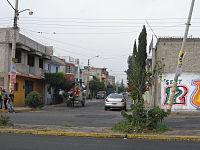 CiudadNezaHorseGarbageTruck.JPG