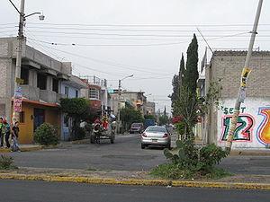 Ciudad Nezahualcóyotl - Horse drawn garbage truck in Ciudad Neza