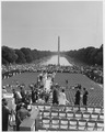 Civil Rights March on Washington, D.C. (Marchers assembling at the Lincoln Memorial.) - NARA - 542046.tif