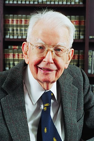 Ronald Coase - Ronald Coase profile photo in 2003.  Photo taken at and by University of Chicago Law School.