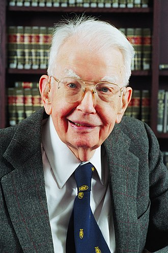 Ronald Coase - Coase profile photo in 2003 (photo taken at and by University of Chicago Law School)