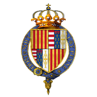 Coat of arms of Alfonso II, King of Naples, KG.png