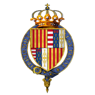 Alfonso II of Naples - Arms of Alfonso II, King of Naples, KG