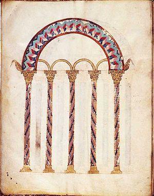 Codex Beneventanus - Image: Codex Beneventanus Folio 1v Blank Canon Table