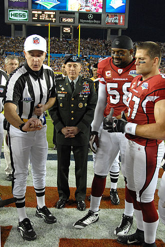 Coin flipping - The coin toss at the start of Super Bowl XLIII