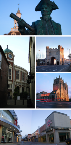 Collage of King's Lynn icons