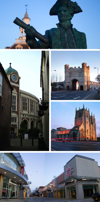 King's Lynn - Image: Collage of King's Lynn icons