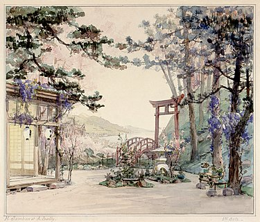 Act I set design from the original production of Puccini's Madama Butterfly