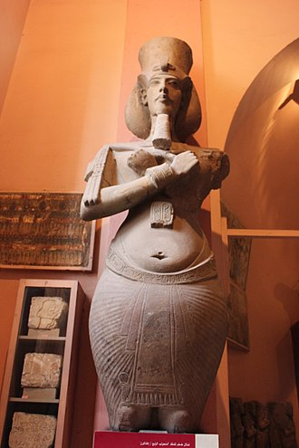 Amarna art - Akhenaten, Pharaoh of Egypt. Egyptian Museum, Cairo.