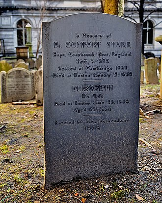 King's Chapel Burying Ground - Image: Comfort Starr