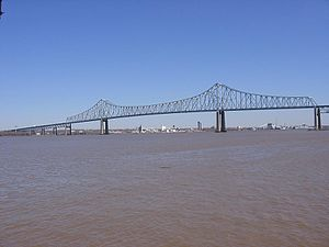 Commodore Barry Bridge - Image: Commodore Barry Bridge From Ferry Rd