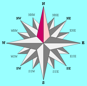 Ossiach - Image: Compass Rose 16 N