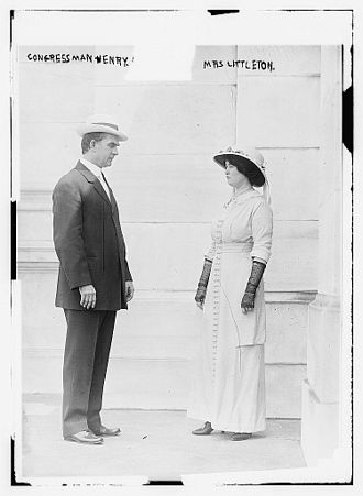 Martin W. Littleton - Texas Congressman Robert Lee Henry and Maud Littleton, who worked together to get the U.S. Government to buy Monticello.