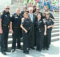 Congressman Jimmy Duncan with Knox County Police Officers on the Capitol Steps.jpg