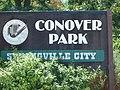 Conover Park sign in Springville, Utah, Aug 15.jpg
