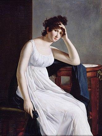 Constance Mayer - Self-Portrait. Oil on canvas. Bibliothèque Marmottan