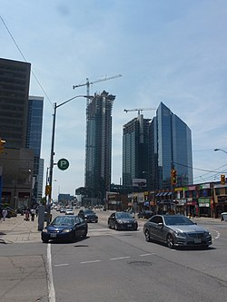 View of Lansing from Sheppard Avenue and Yonge Street