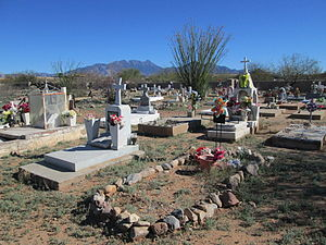 Continental, Arizona - Image: Continental Cemetery Pima Country Arizona 2014