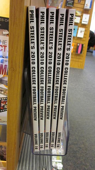 Phil Steele - Copies of Phil Steele's 2010 College Football Preview at Borders in San Francisco, California.