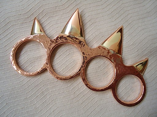 Copper brass knuckles-a