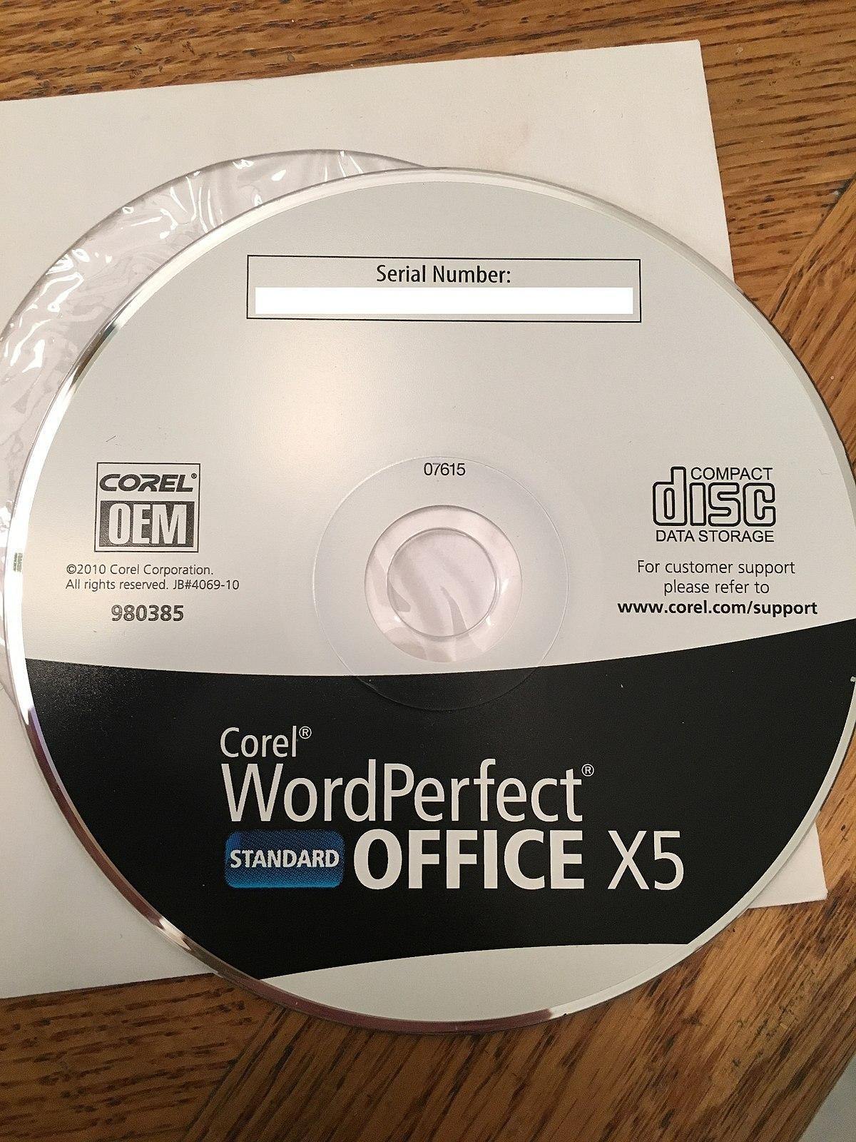 Corel Wordperfect Office X5 Standard For Sale