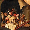 Cornelis Norbertus Gijsbrechts - A trompe-l'oeil vanitas still life.jpg