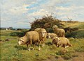 Cornelis Van Leemputten - Sheep in a meadow.jpg