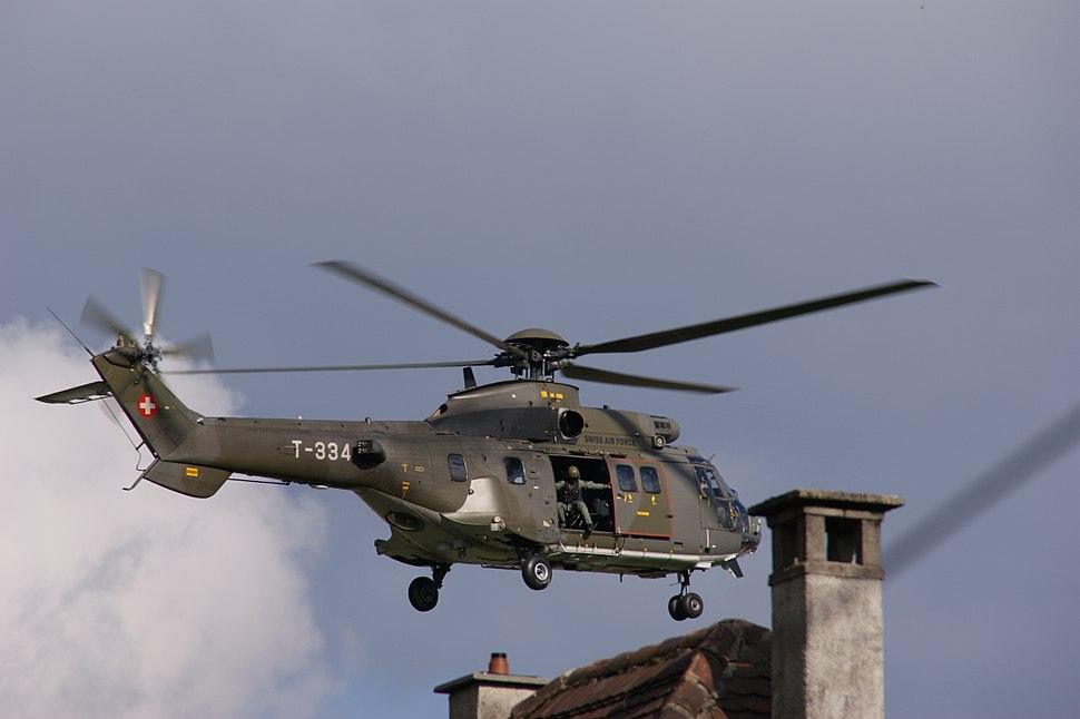Cougar AS532 T 334 Swiss Air Force Rescue Exercise