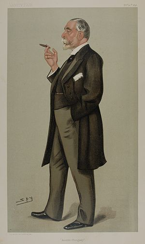 Franz Deym - Ambassador Deym as caricatured by Spy (Leslie Ward) in Vanity Fair, February 1898