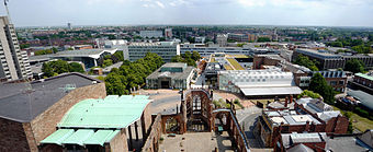 Coventry Cathedral Tower East Panorama.jpg