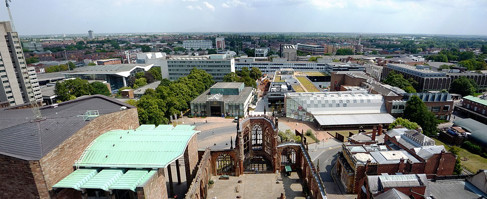 Coventry Cathedral Tower East Panorama