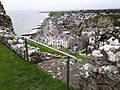 Criccieth from the castle wall. (37069215960).jpg