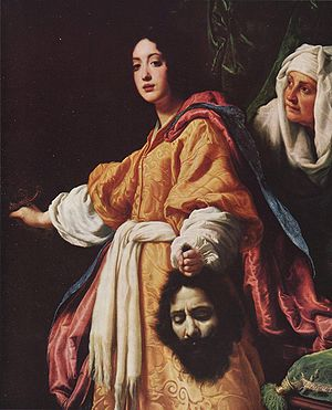 Judith (Serov) - Judith with the Head of Holophernes, by Cristofano Allori, 1613 (Pitti Palace, Florence)